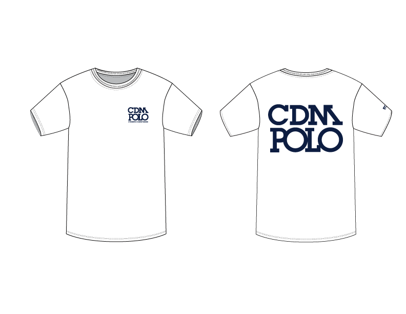 WHITE CDM High School Water Polo Strength & Conditioning Men's T-Shirt
