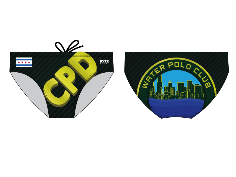 Chicago Park District Custom Men's Swim & Water Polo Brief