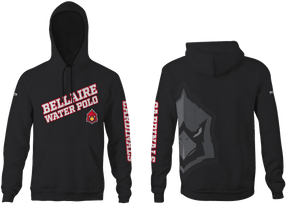 Bellaire Water Polo Custom Black Unisex Adult Hooded Sweatshirt - Personalized