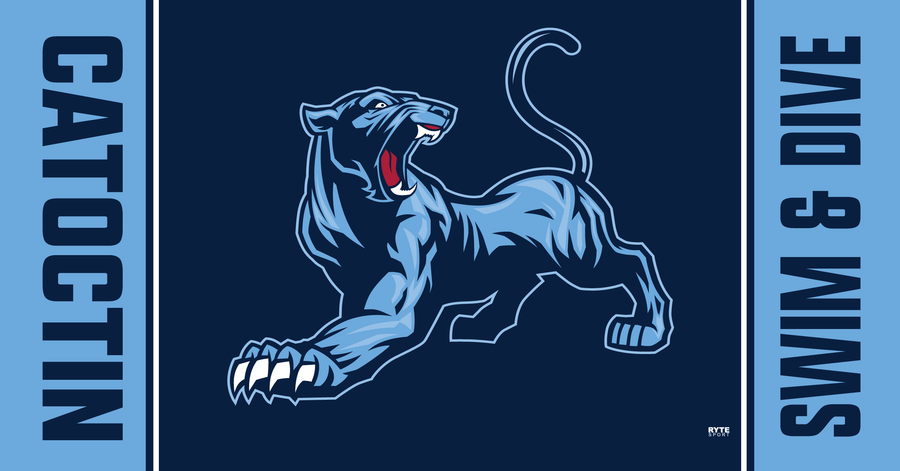 Catoctin High School Swim & Dive 2019 Custom Towel - Personalized