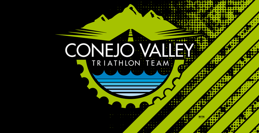 Conejo Valley Triathlon Team 2020 Green Custom Towel - Personalized