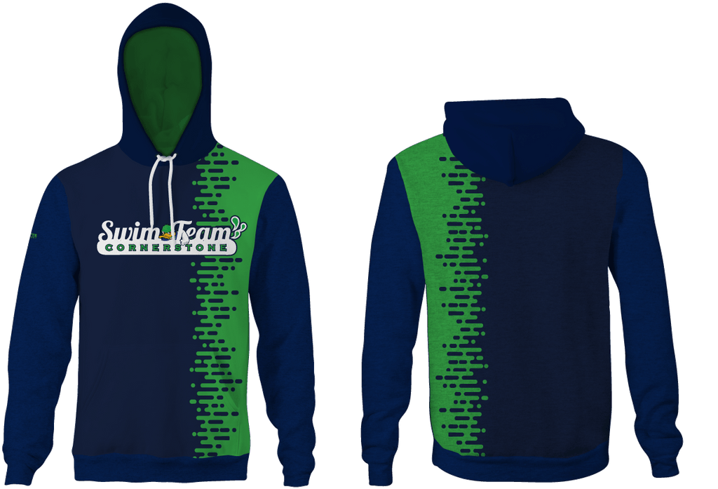 Cornerstone Charter Academy Swim 2019 Custom Unisex Adult Hooded Sweatshirt - Personalized