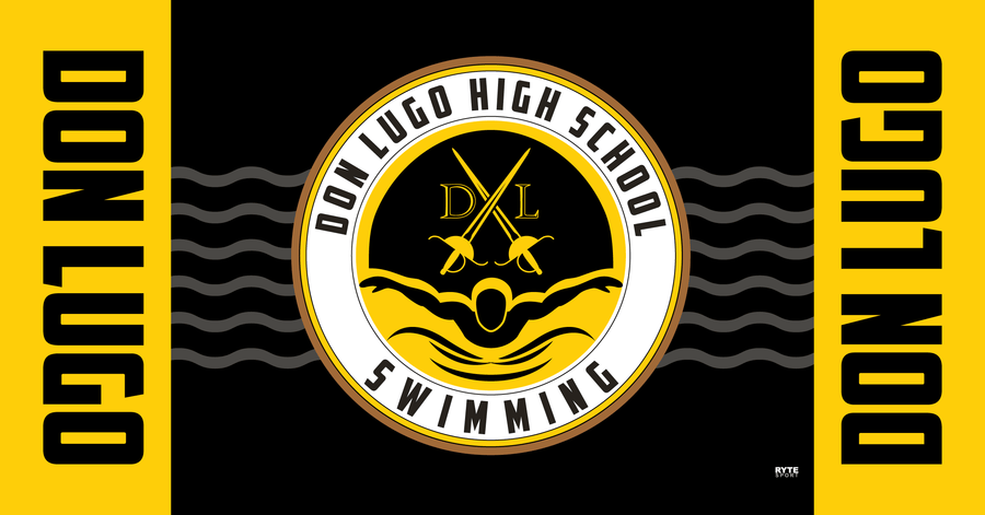 Don Lugo High School Swim 2020 Custom Towel - Personalized