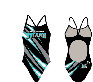 Grand Terrace High School Swim 2020 Custom Women's Active Back Thin Strap Swimsuit - Personalized