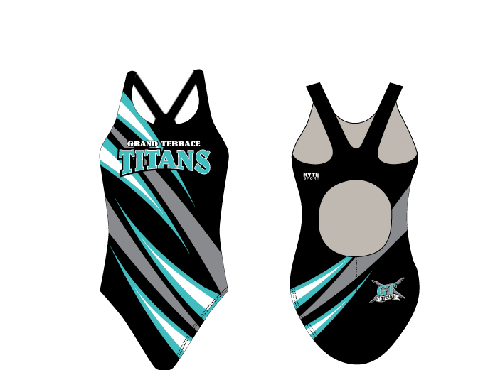 Grand Terrace High School Swim 2020 Custom Thick Strap Women's Swim Suit - Personalized