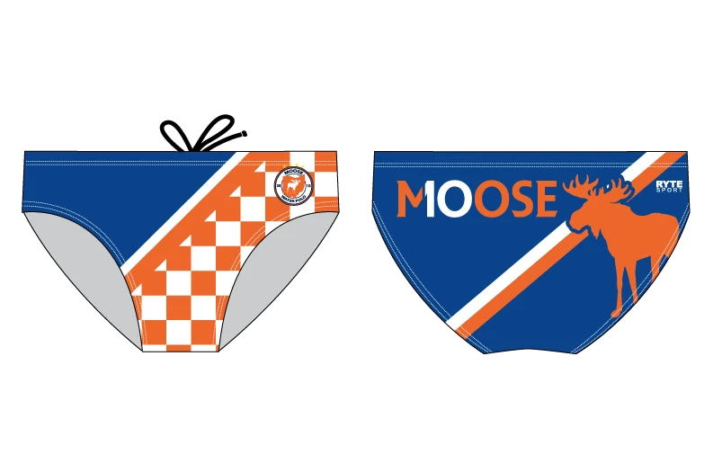 Moose Water Polo Custom Men's Water Polo Brief - Personalized
