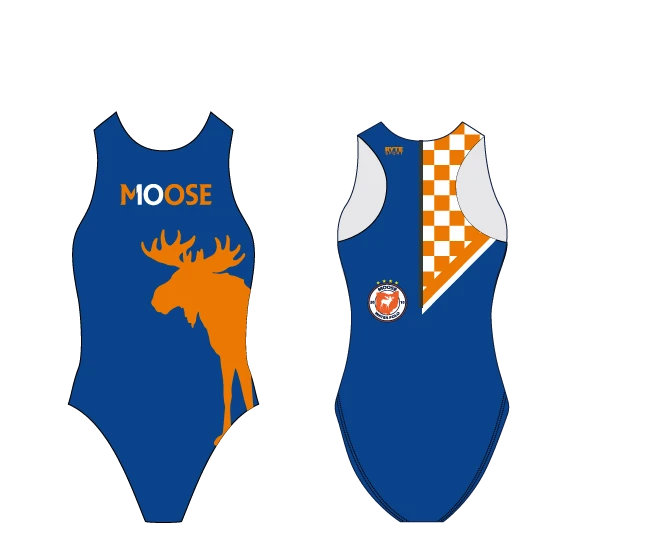 Moose Water Polo Custom Women's Water Polo Suit - Personalized