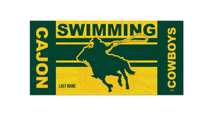 Cajon Swim Team Custom Towel