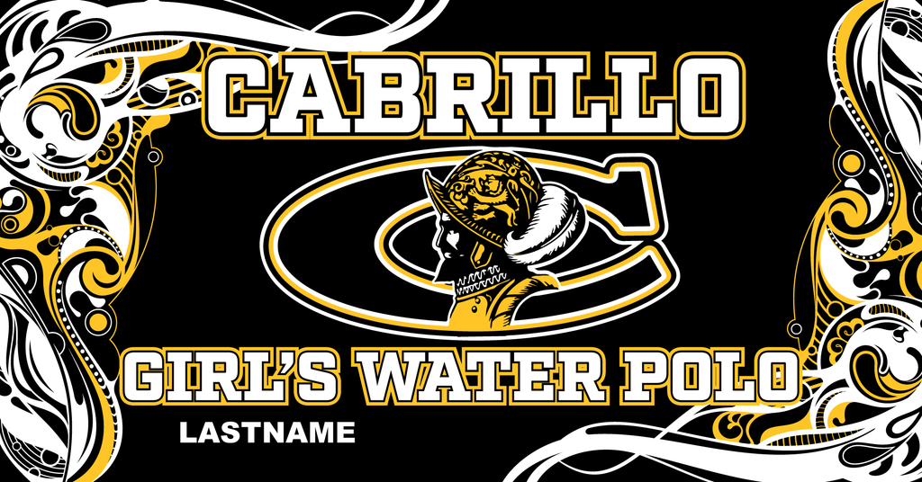 Cabrillo High School Water Polo Custom Towel - Personalized