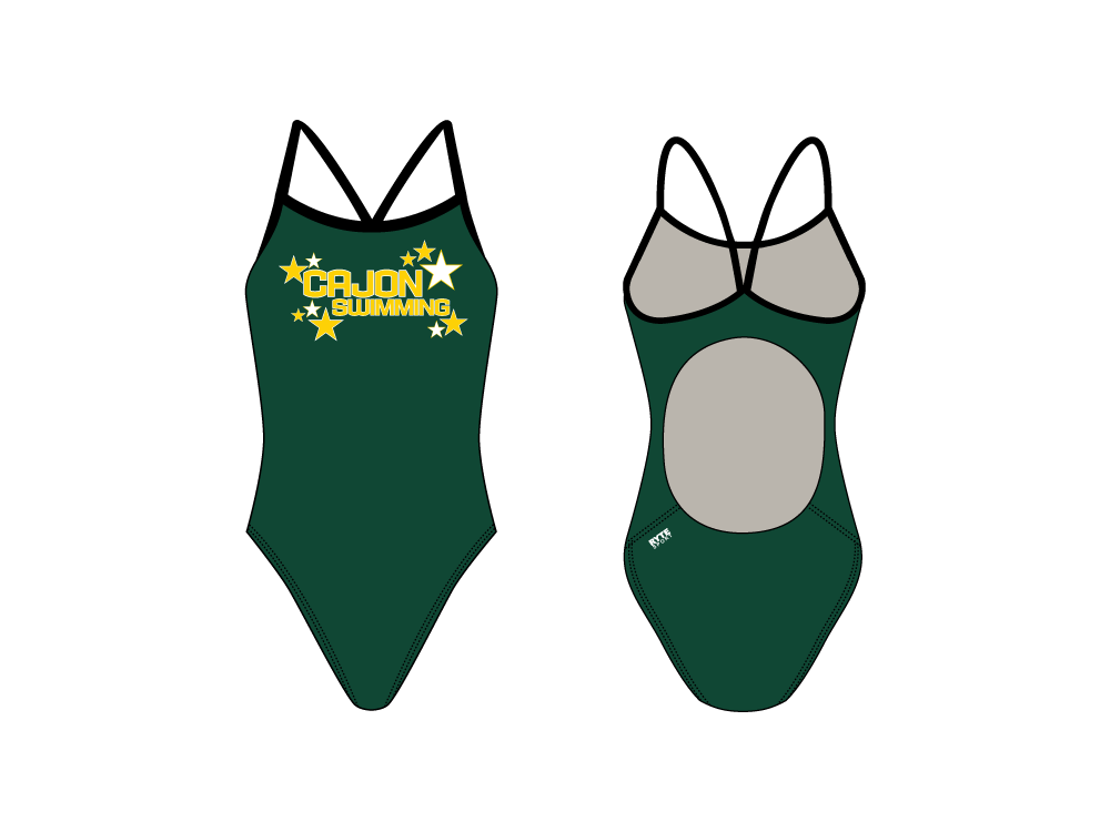 Cajon High School Active Back Thin Strap Swimsuit