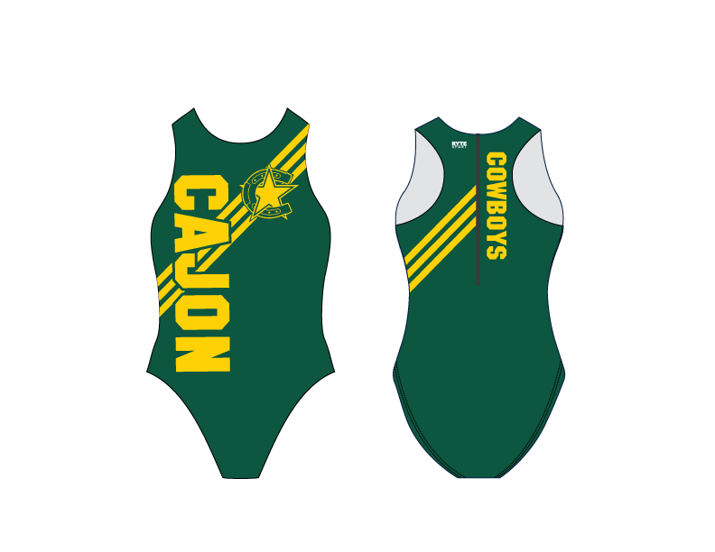 Cajon High School Water Polo 2019 Custom Women's Water Polo Suit - Personalized
