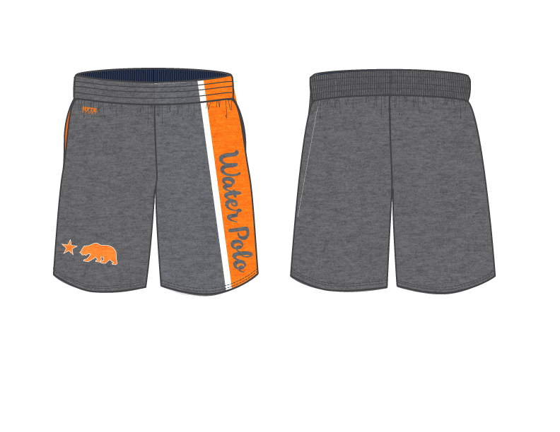 California High School Water Polo 2019 Custom Heathered Gray Men's Gym Shorts