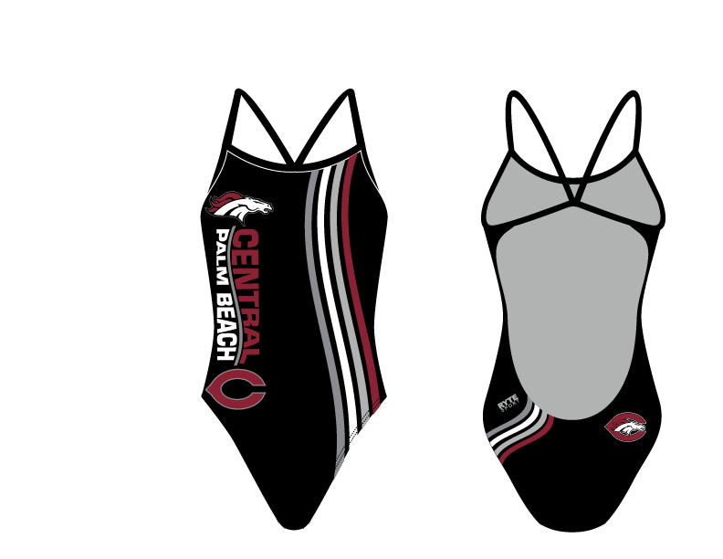 Palm Beach Central High School Swim 2019 Custom Women's Open Back Thin Strap Swimsuit