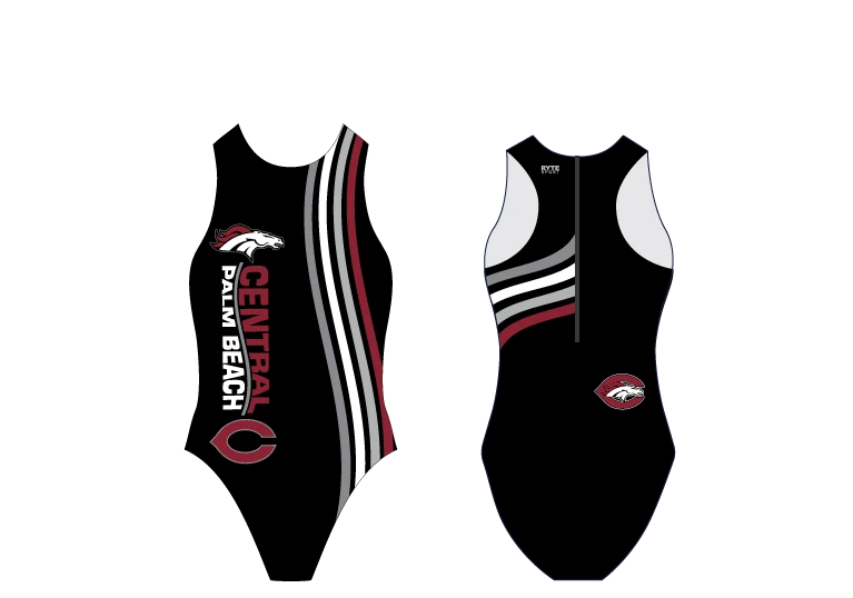 Palm Beach Central High School Water Polo 2020 Custom Women's Water Polo Suit