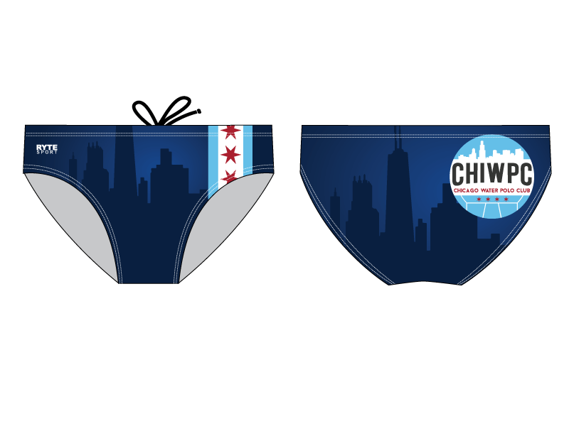 Chicago Water Polo Club 2019 Custom Men's Water Polo Brief
