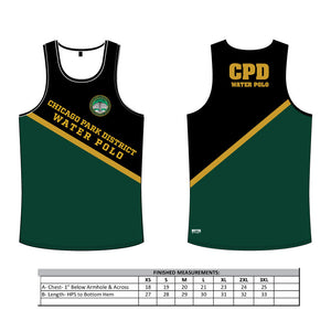 Chicago Park District Black Men's Tank Top