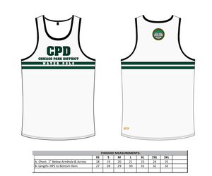 Chicago Park District Aquatics 2019 Custom Tank Top White
