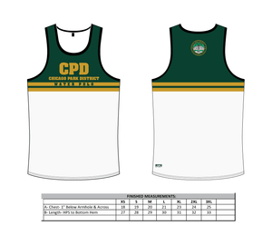 Chicago Park District Aquatics 2019 Custom Tank Top Green