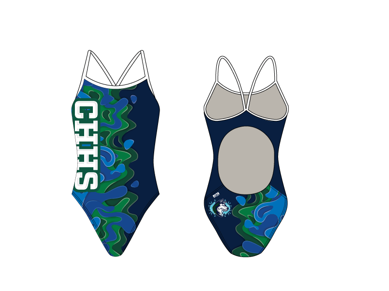 Chino Hills High School 2019 Swim Team Active Back Thin Strap Swimsuit