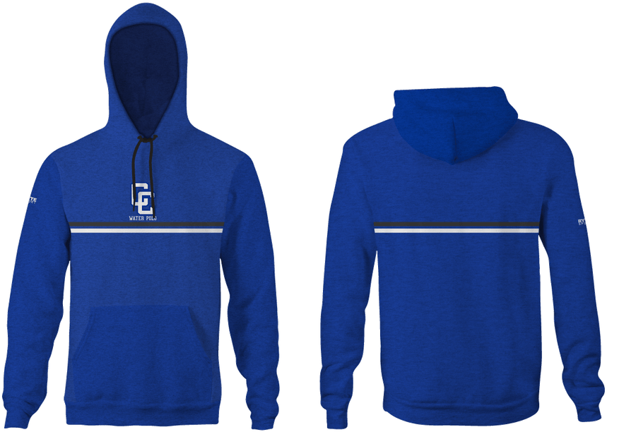 Chino High School Water Polo 2019 Heathered Blue Unisex Adult Hooded Sweatshirt