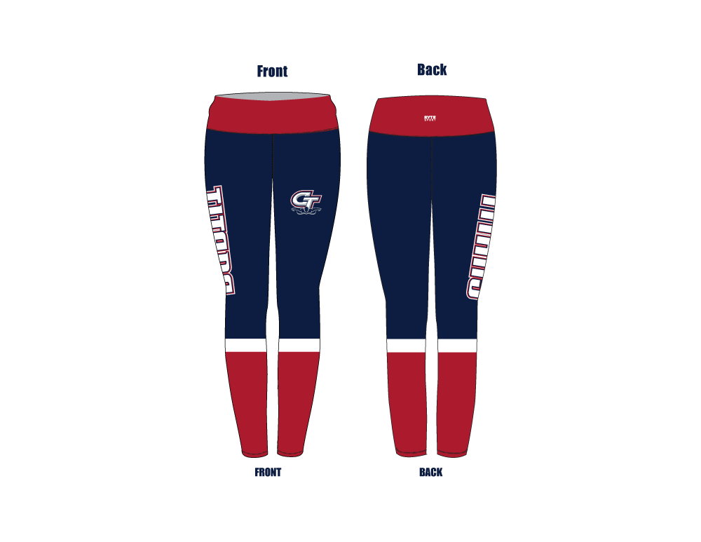 Colony High School 2019 Swim Team Mid-Rise Full Length Leggings