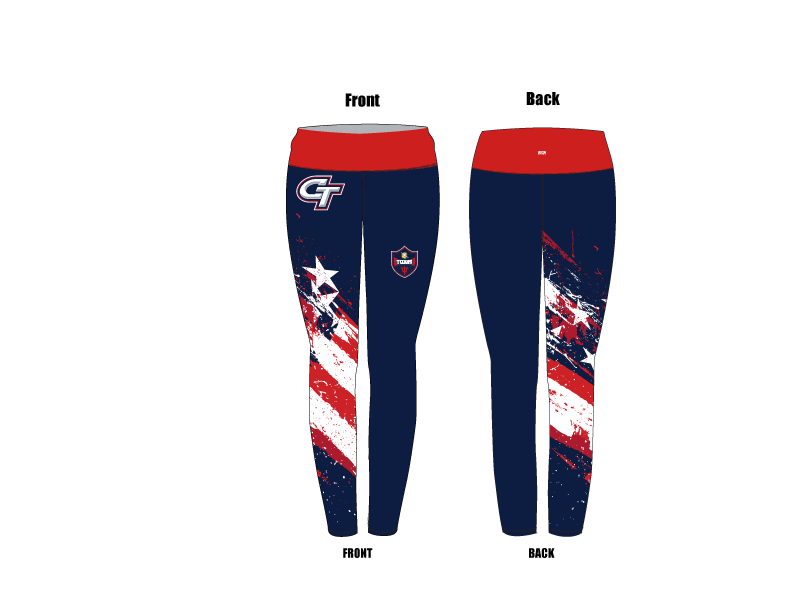 Colony High School Water Polo 2019 Custom Mid-Rise Full Length Leggings