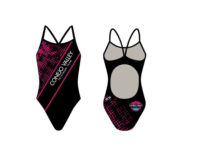 Conejo Valley Triathlon Team Custom Women's Activeback Swimsuit