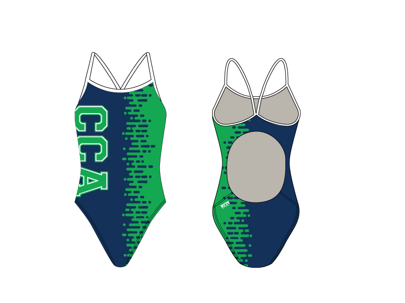 Cornerstone Charter Academy Swim 2019 Custom Women's Active Back Thin Strap Swimsuit