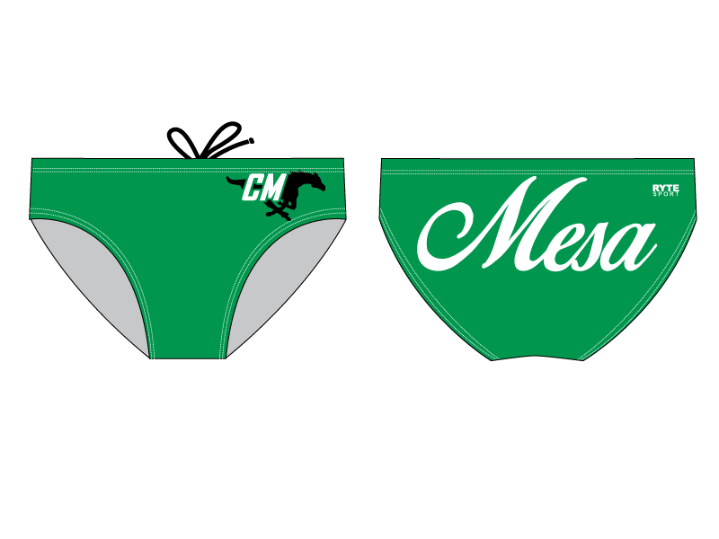 Costa Mesa High School Game Day Custom Men's Water Polo Brief