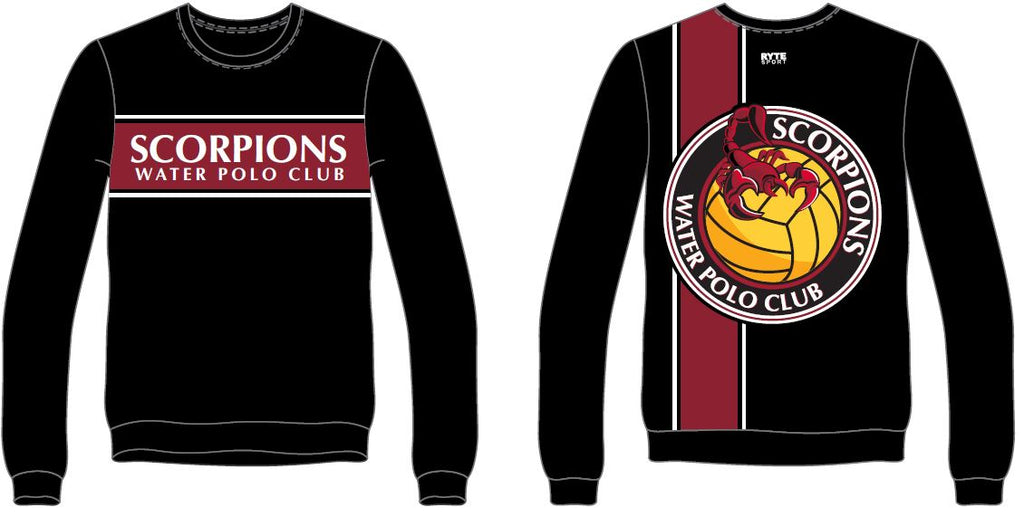 Scorpions Water Polo Club Custom Unisex Adult Crew-Neck Sweatshirt