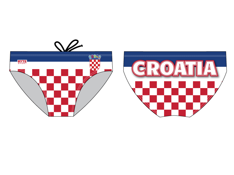 Croatia Men's Swim & Water Polo Brief