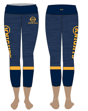 Menlo School Girls Water Polo Mid-Rise Cropped Leggings