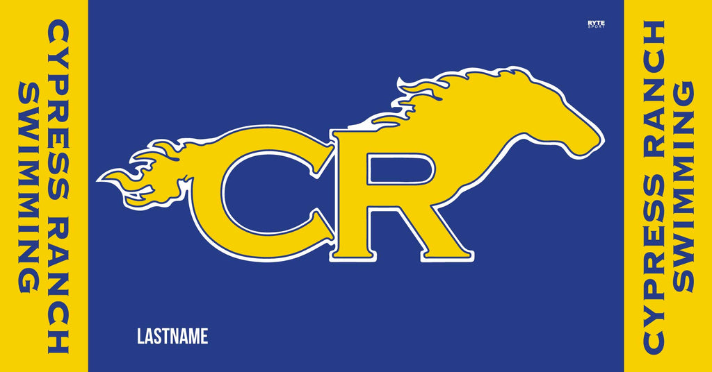 CYPRESS RANCH HIGH SCHOOL SWIMMING & DIVE TEAM CUSTOM Swimming TOWEL - PERSONALIZED