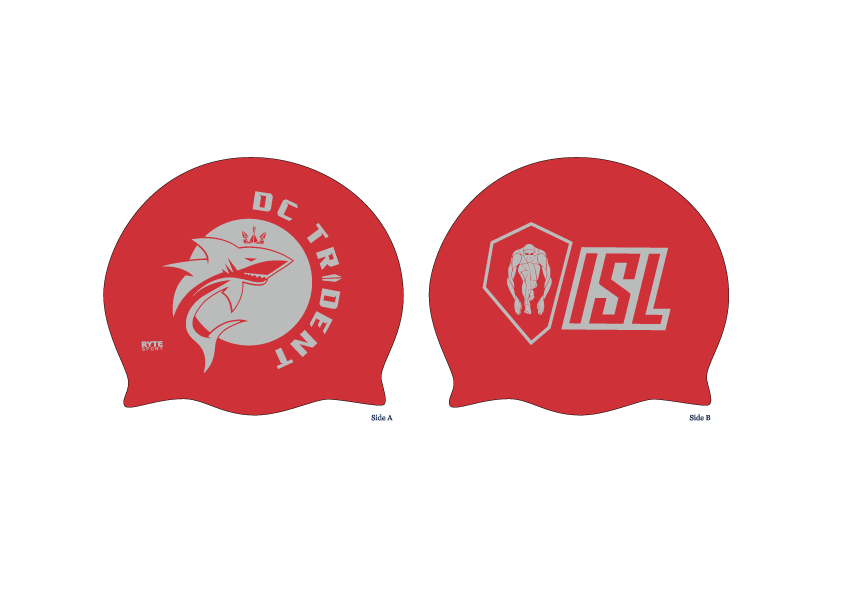 DC Trident Red Latex Caps