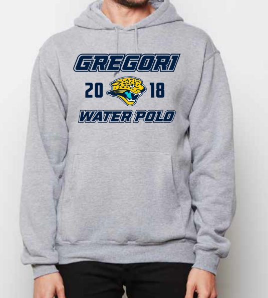 Gregori High School Athletic Heather Grey Unisex Hooded Sweatshirt