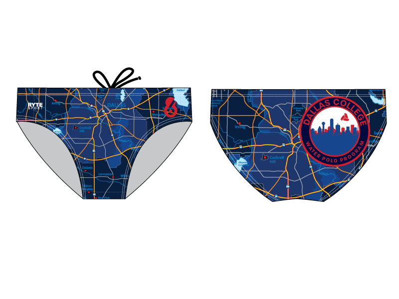 Dallas College Water Polo Program Athlete Custom Men's Water Polo Brief