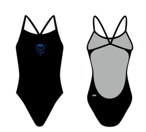 Davis HS Swim Open Back Thin Strap Swimsuit - TYR