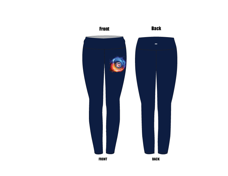 Douglas Dolfins Swim Team 2019 Custom Mid-Rise Full Length Leggings