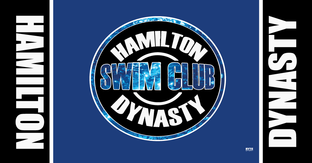 Hamilton Dynasty Swim Club 2019 Custom Towel - Personalized