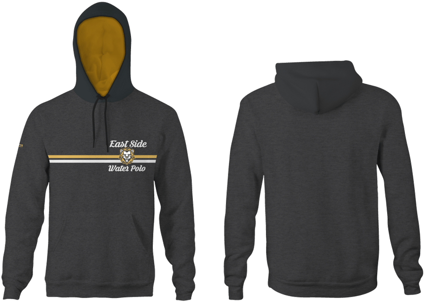East Side Water Polo 2019 Custom Heathered Charcoal Unisex Adult Hooded Sweatshirt - Personalized