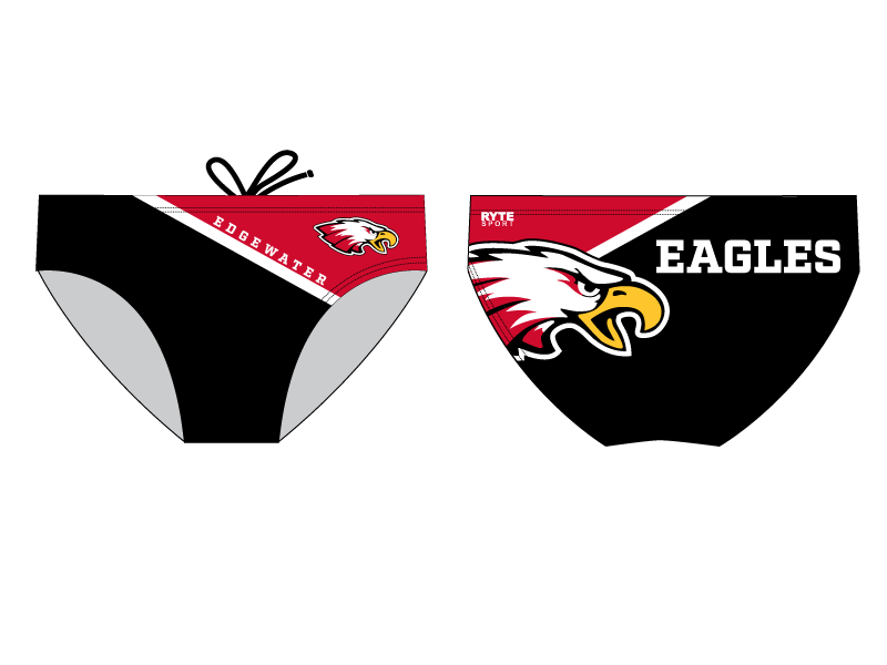 Edgewater High School Water Polo 2020 Custom Water Polo Brief - Personalized