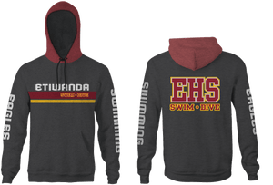 Etiwanda High School Swim 2019 Heathered Color Unisex Adult Hooded Sweatshirt