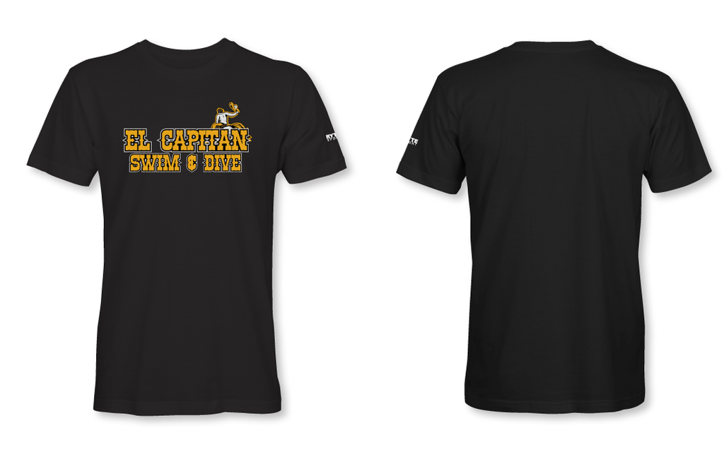 El Capitan High School Swim & Dive Team School Black - Unisex Adult T-Shirt