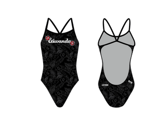 Etiwanda High School Swim 2019 Women's Open Back Thin Strap Swimsuit