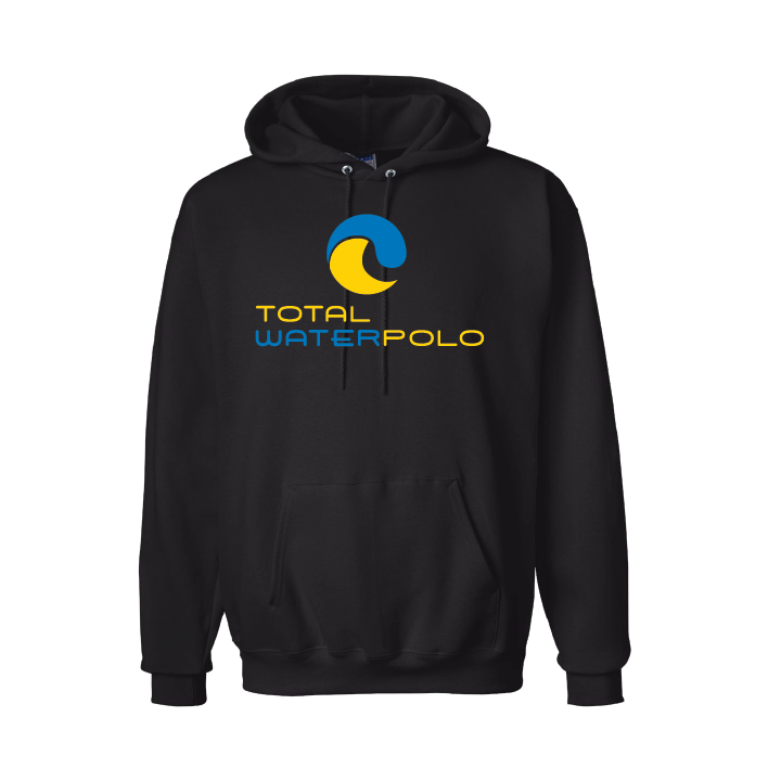 Total Waterpolo F170 Ultimate Cotton Pullover Hooded Sweatshirt - Black