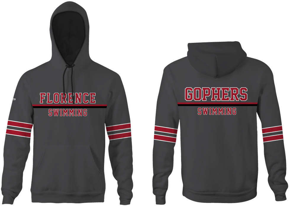 Florence High School Swim 2019 Custom Unisex Adult Hooded Sweatshirt