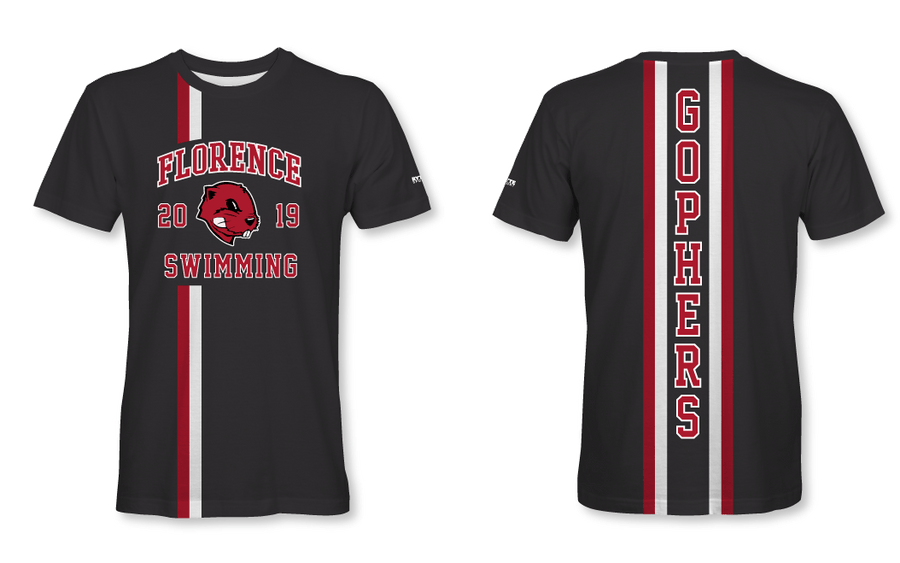 Florence High School Swim 2019 Custom Unisex T-Shirt