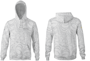 Foothill Heather Adult Unisex Hooded Sweatshirt White 2019
