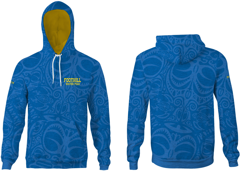 Foothill Heather Adult Unisex Hooded Sweatshirt Blue 2019