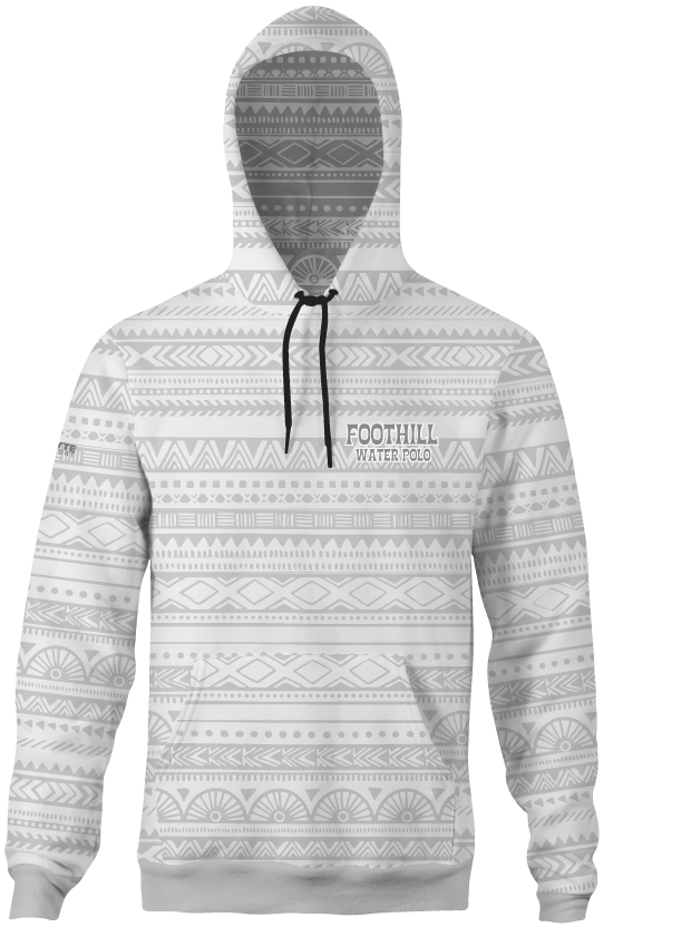 Foothill Heather Adult Unisex Hooded Sweatshirt White Tribal